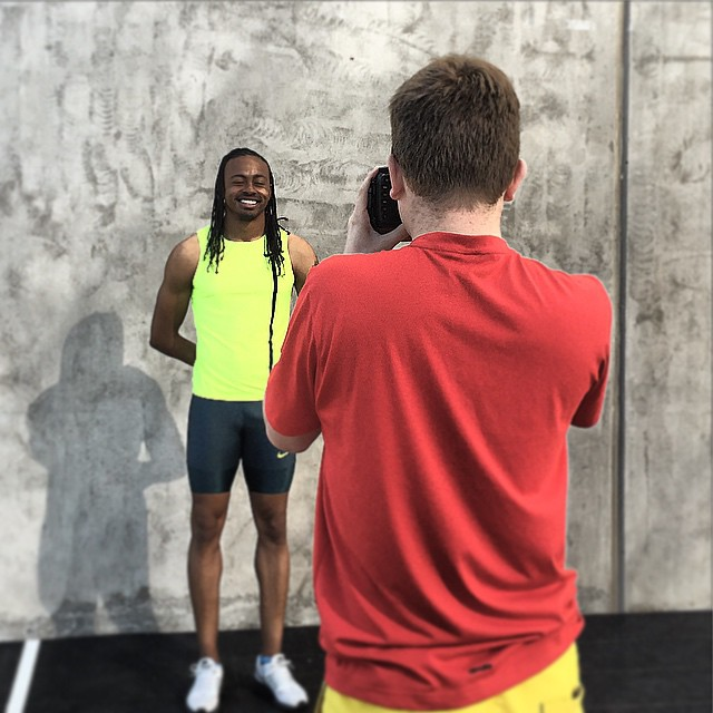 Our photoshoot with 110mh World record holder Aries Merrit.